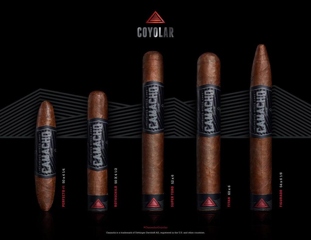 Camacho Coyolar cigar sizes