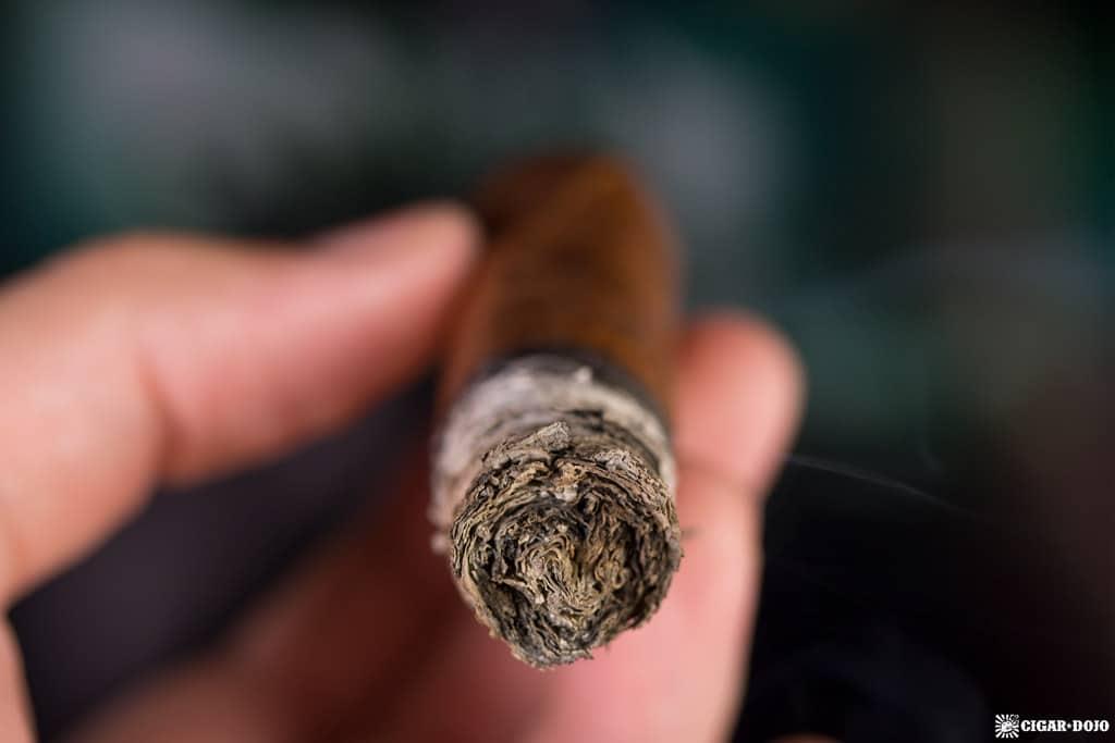 Debonaire Habano Belicoso cigar ash
