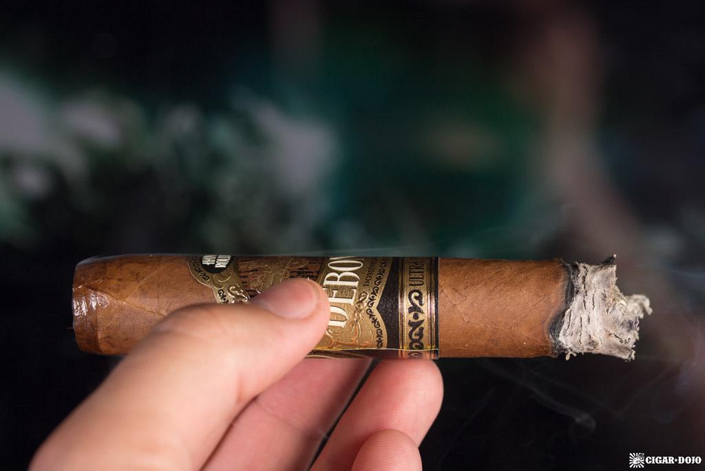 Debonaire Habano Belicoso cigar smoking