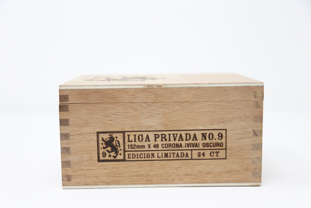 Drew Estate Liga Privada No. 9 Corona Viva box closed