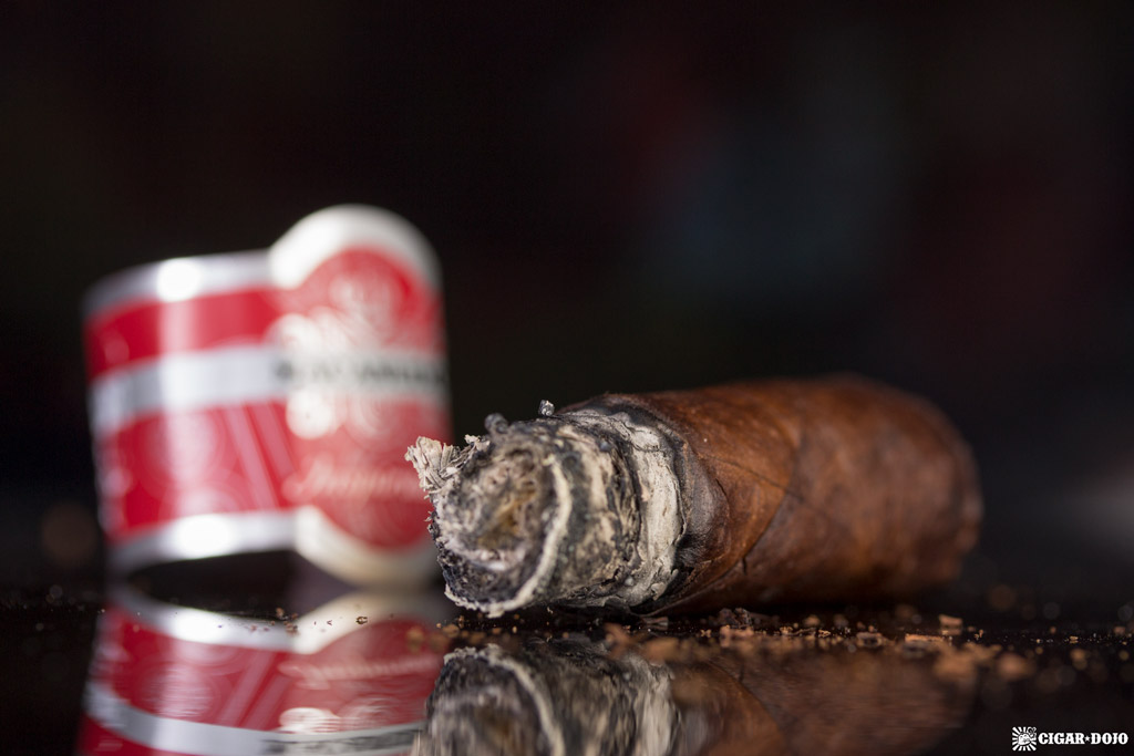 Macanudo Inspirado Red Robusto cigar nubbed