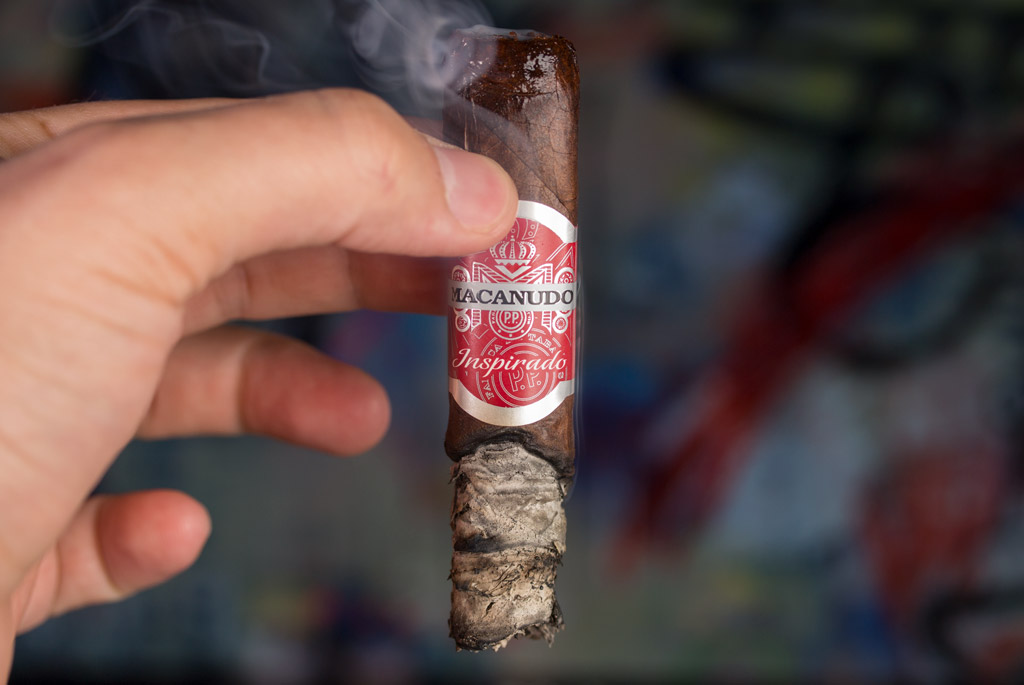 Macanudo Inspirado Red Robusto cigar smoking