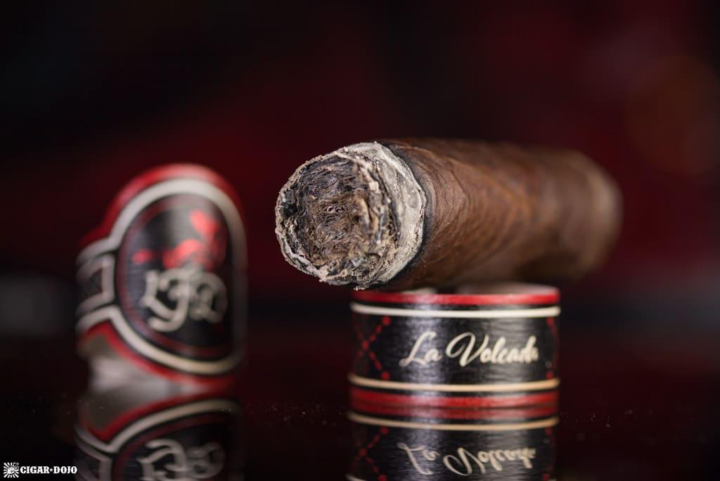 La Flor Dominicana La Volcada cigar nubbed
