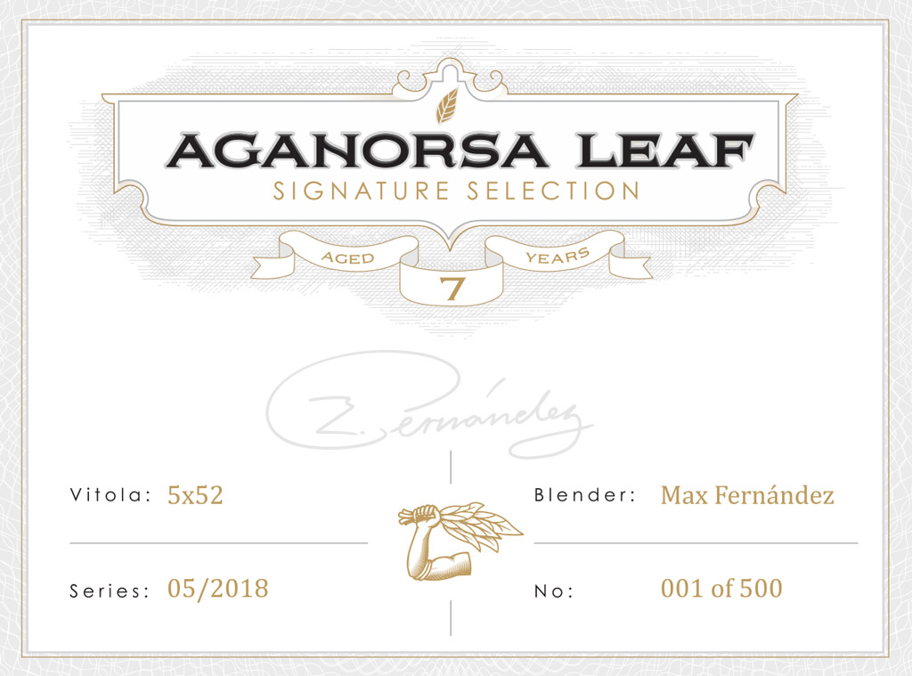 Aganorsa Leaf Signature Selection box vista