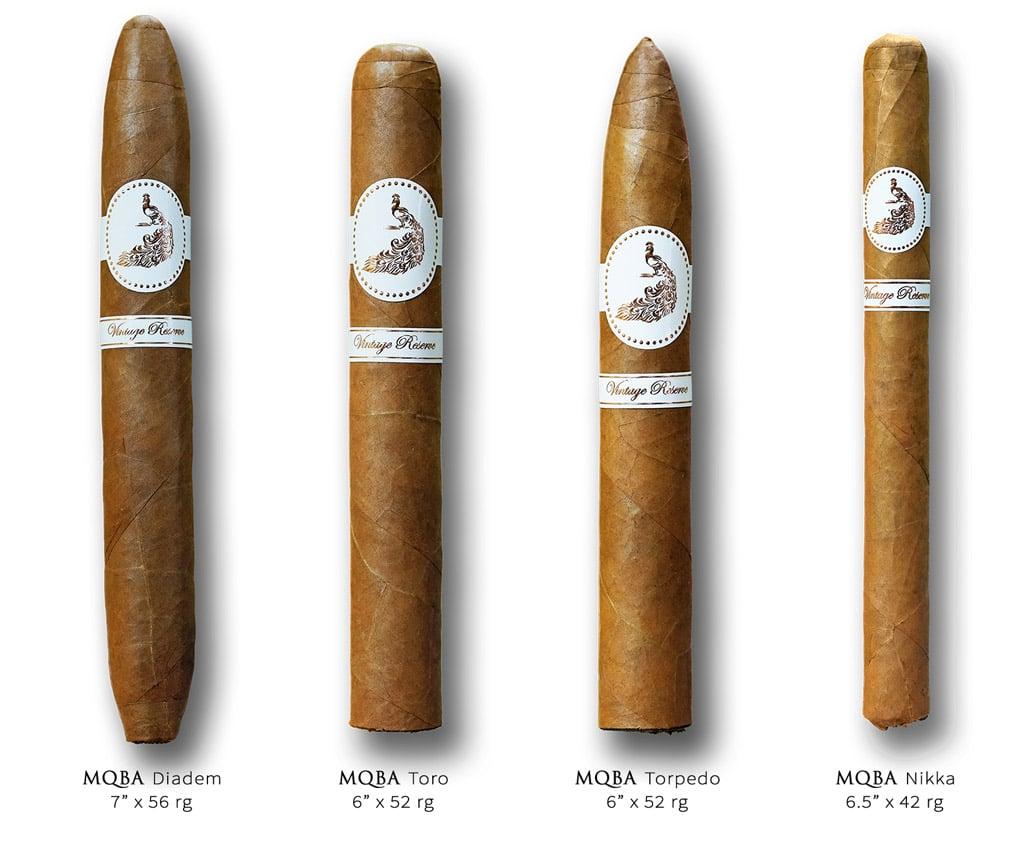 Bombay Tobak MQBA cigar lineup