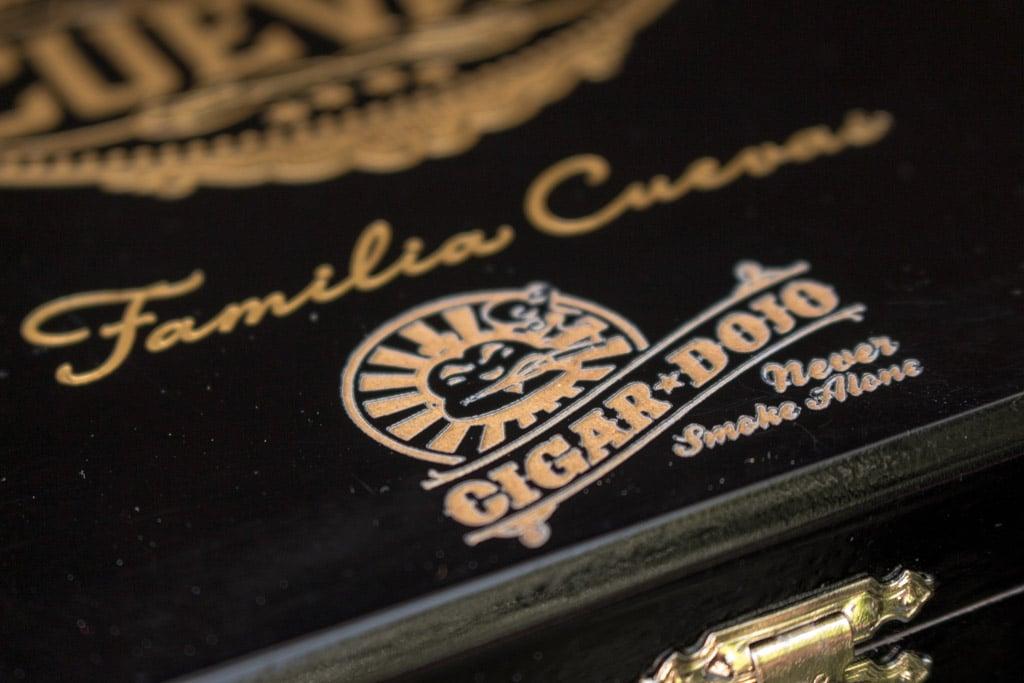 Casa Cuevas box Cigar Dojo engraved