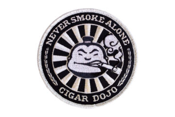 Black + Silver Cigar Dojo Patch NEW