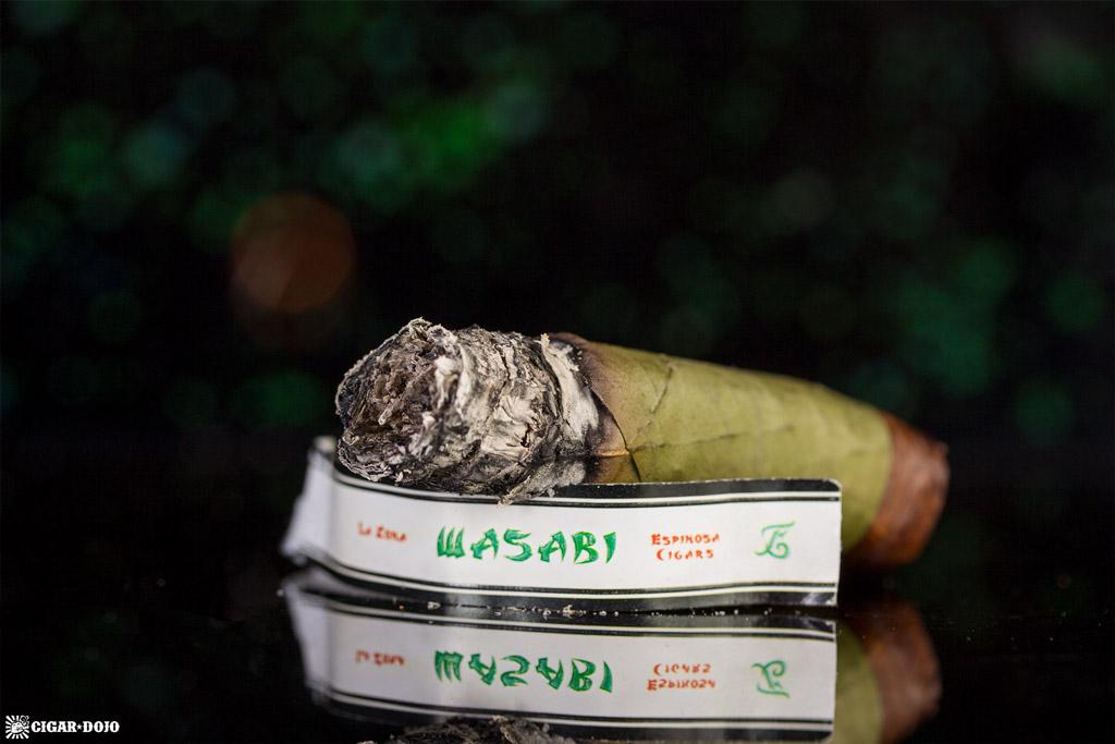 Espinosa Wasabi cigar nubbed