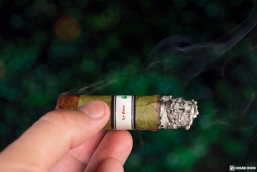 Espinosa Wasabi cigar smoking