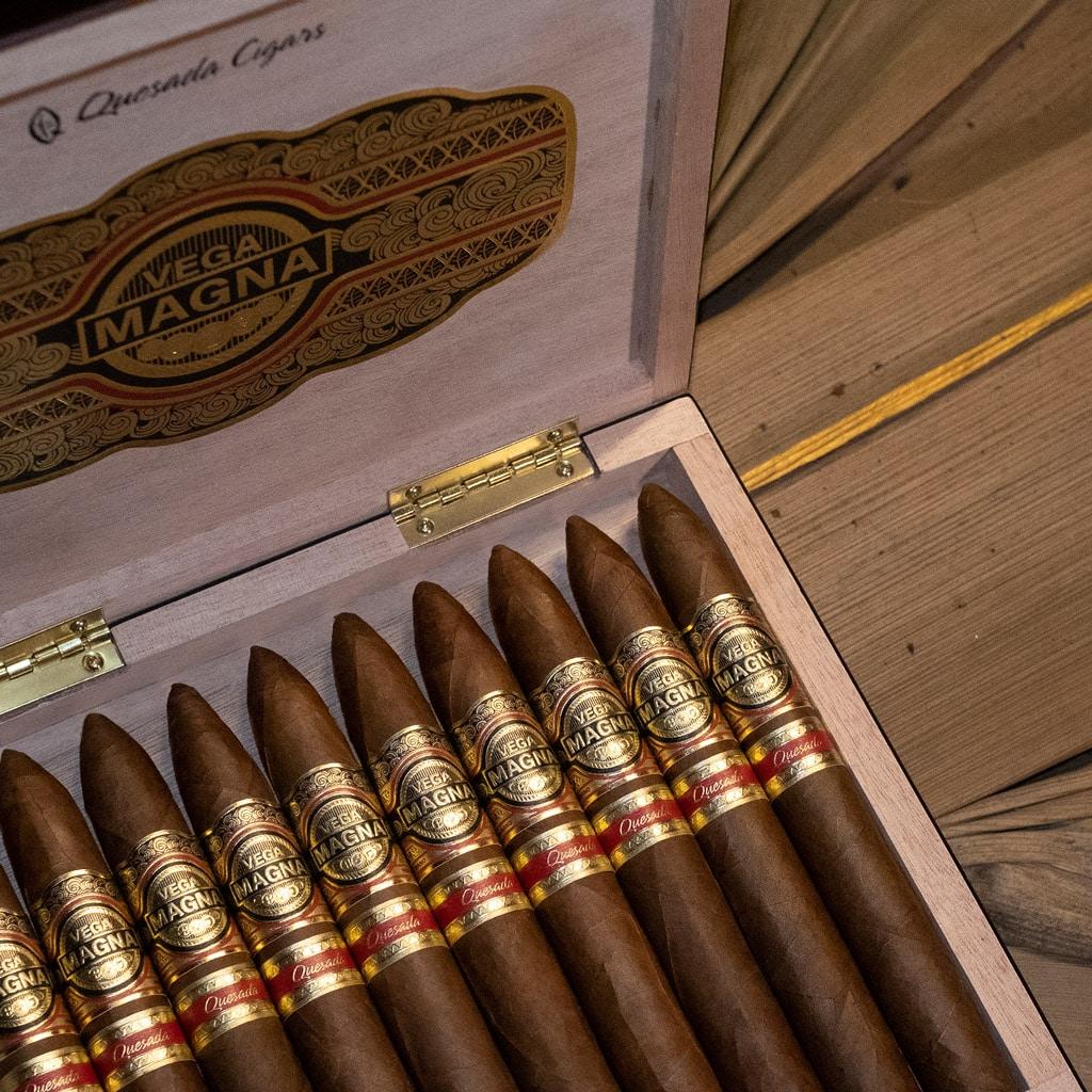 Quesada Vega Magna cigars box open