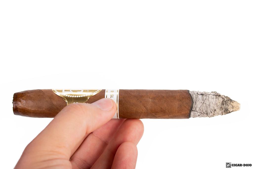 Davidoff 50th Diademas Finas cigar smoking