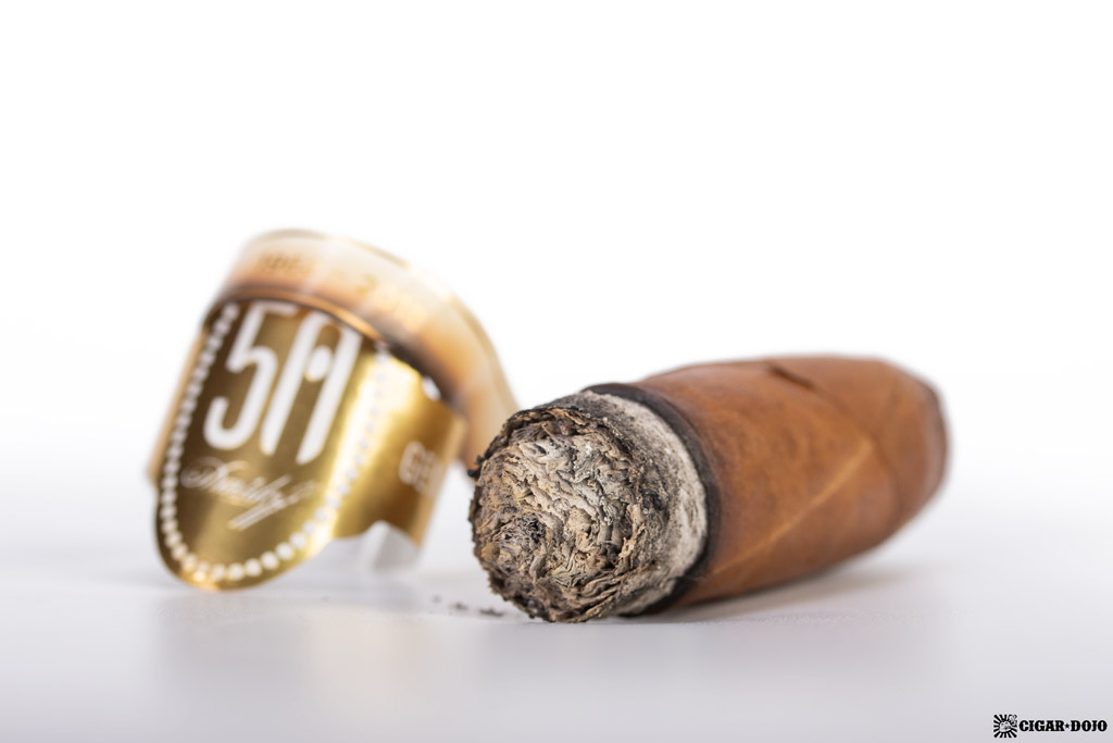 Davidoff 50th Diademas Finas cigar nubbed