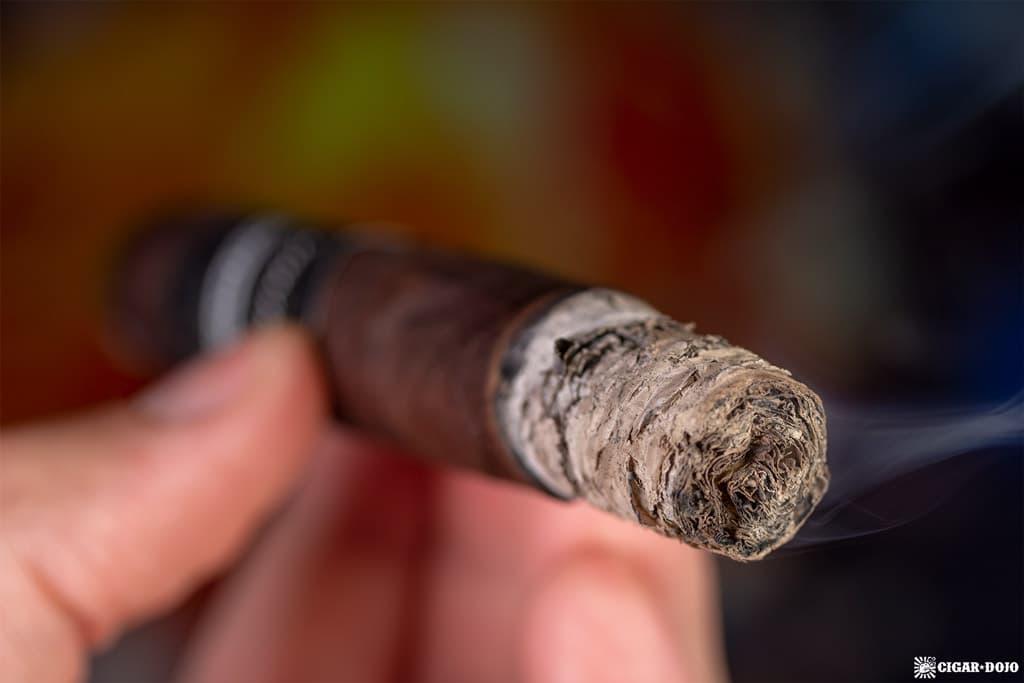 Macanudo Inspirado Black Robusto cigar ash