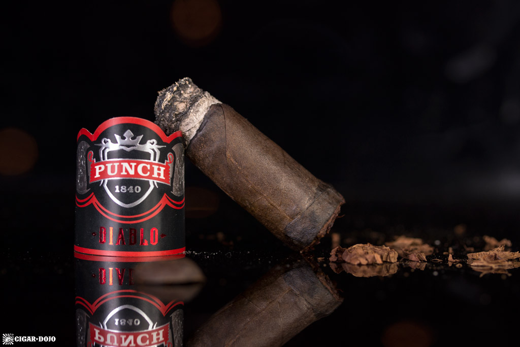 Punch Diablo Scamp cigar nubbed