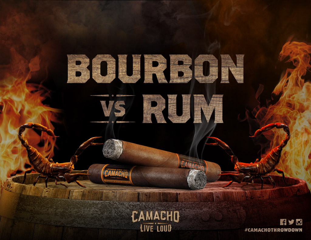 Camacho Bourbon vs Rum cigars