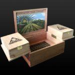 Foundation Cigar Co. custom humidor open