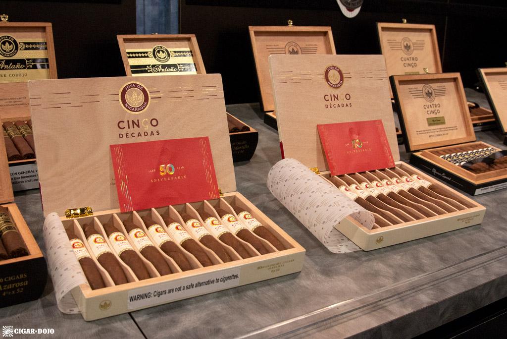 Joya de Nicaragua Cinco Décadas cigar boxes