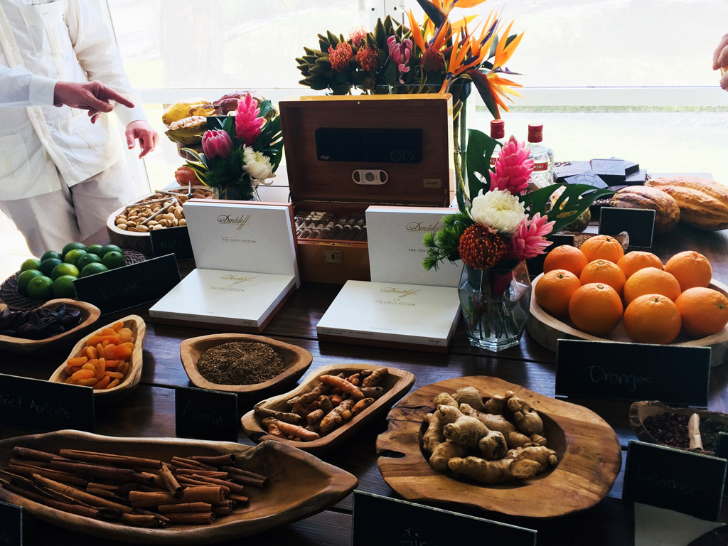 Davidoff Chefs Edition 50th Anniversary food pairing