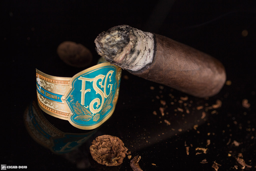 Drew Estate Florida Sun Grown Robusto cigar nubbed