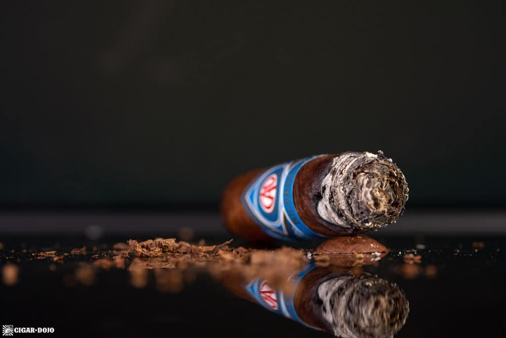 CAO Nicaragua Granada cigar nubbed