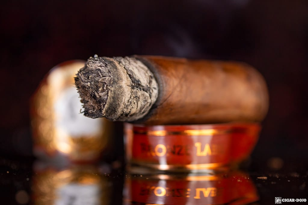 La Palina Bronze Label Robusto cigar nubbed