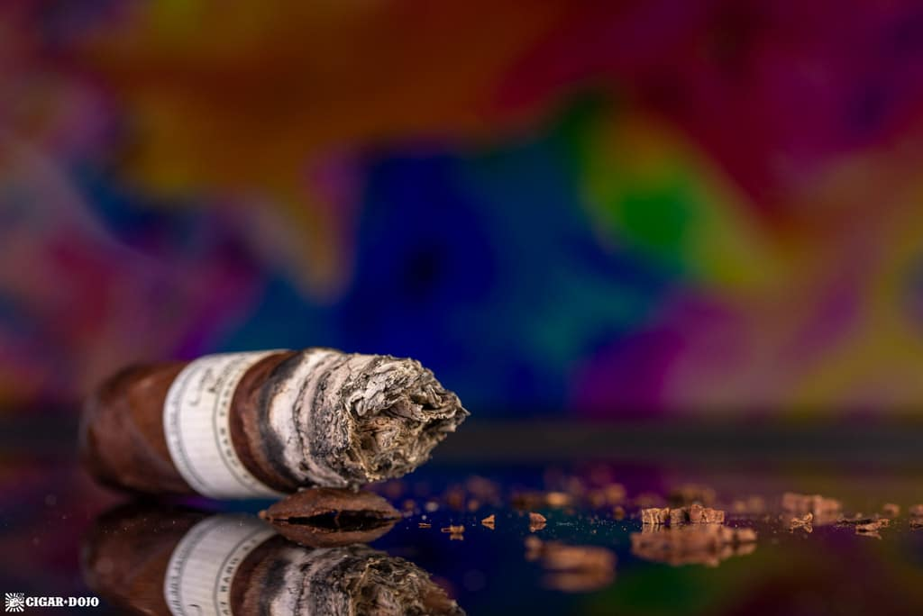 Liga Privada 10-Year Aniversario pre-release cigar nubbed
