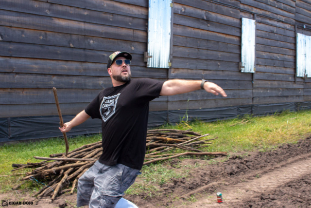 Spear throwing at Camp Camacho