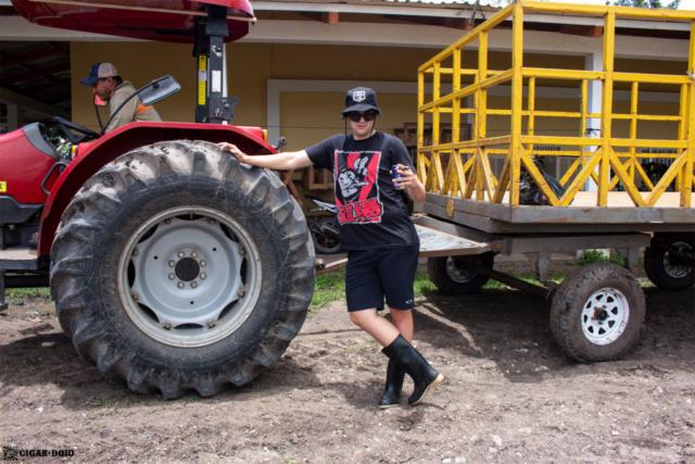 Camacho Diadema Cigars de Honduras farm tractor