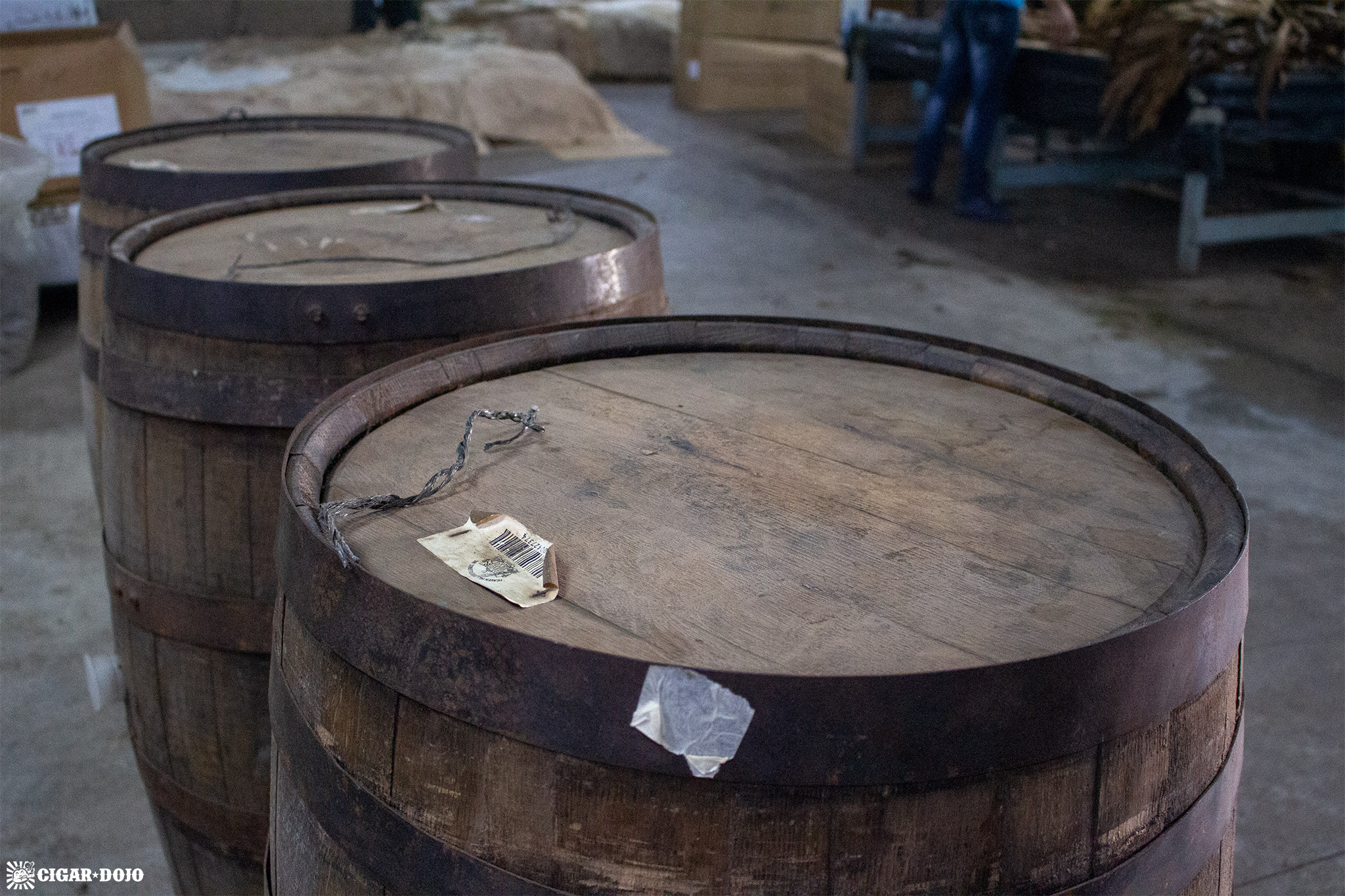Camacho Dojo Imperial Stout Barrel-Aged barrels in factory