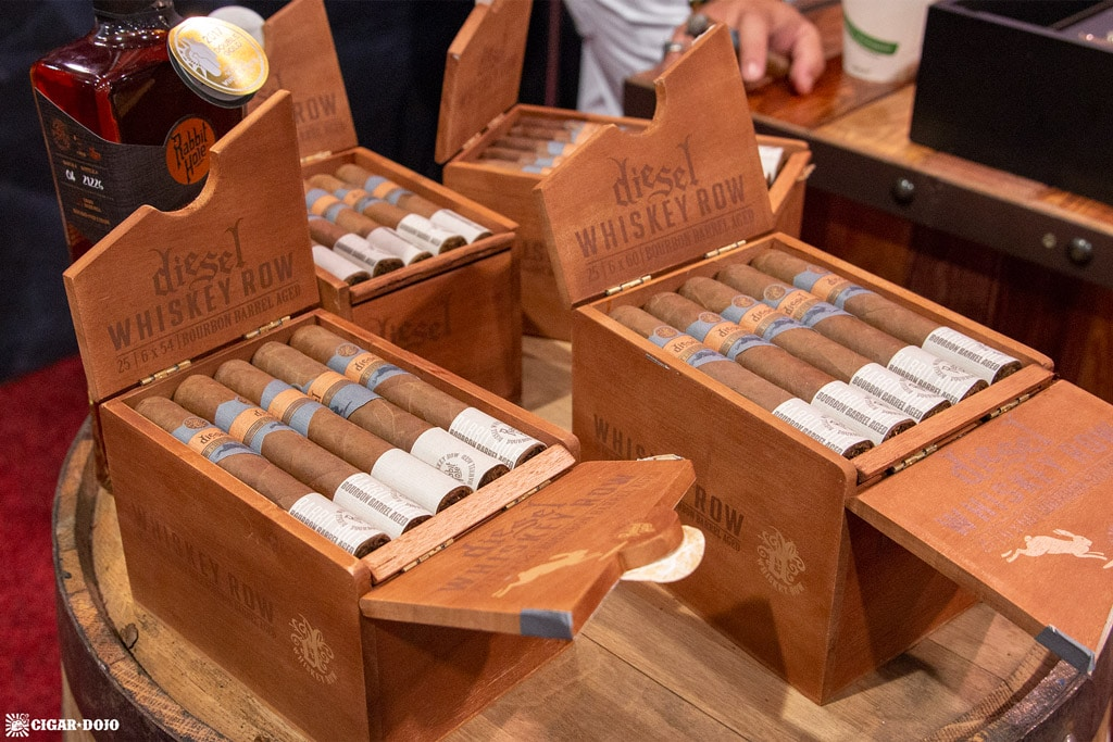 Diesel Whiskey Row cigars presentation