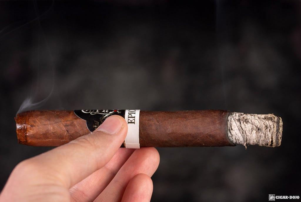 Crux Epicure Maduro Toro cigar smoking