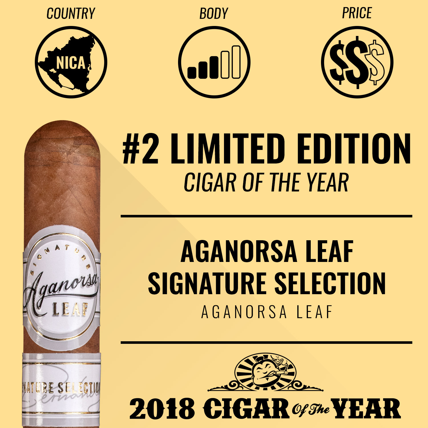 Aganorsa Leaf Signature Selection No. 2 Limited Edition Cigar of the Year 2018