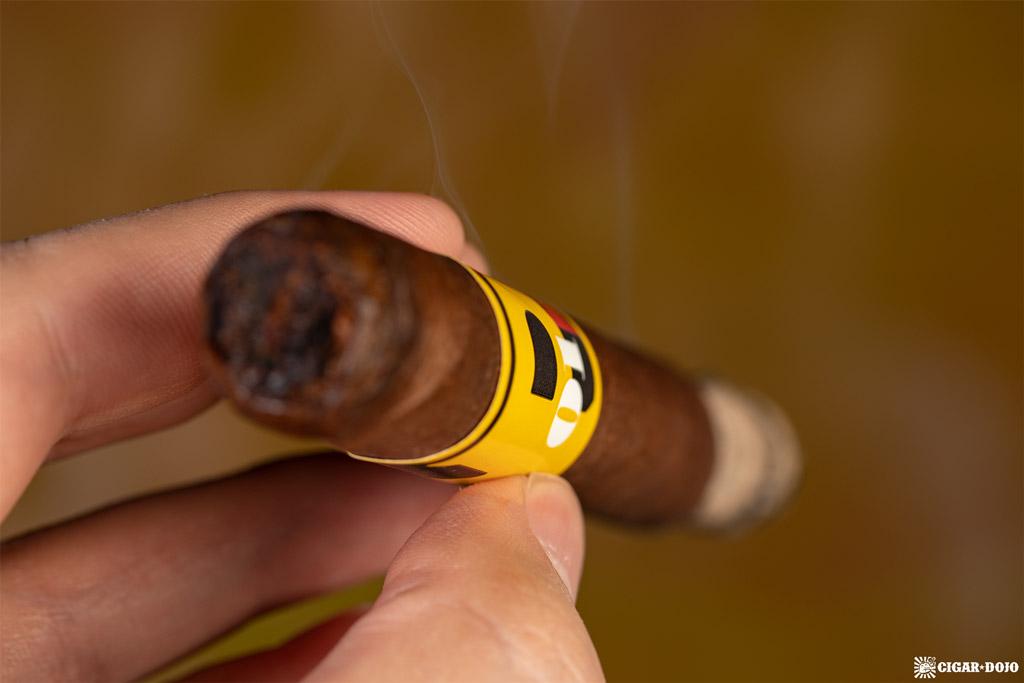 La Palina Number Series LP01 Robusto cigar smoking