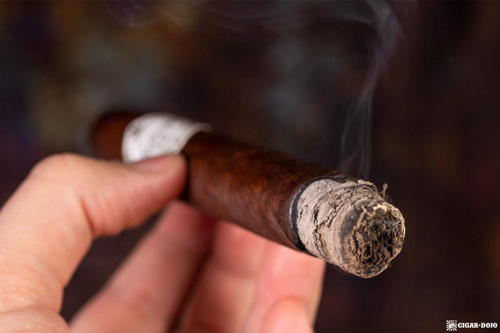 Tatuaje 15th Anniversary Rosado Oscuro Torpedo Grande cigar smoking