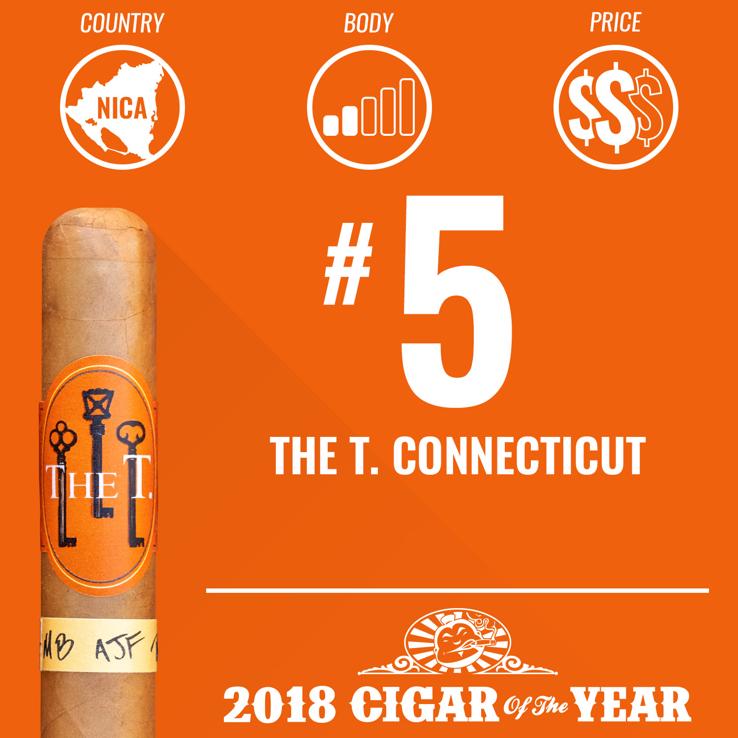 The T. Connecticut No. 5 Cigar of the Year 2018
