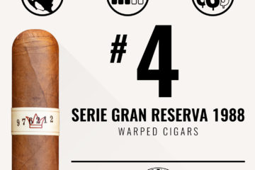Warped Serie Gran Reserva 1988 No. 4 Cigar of the Year 2018