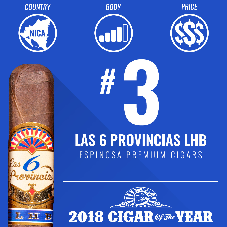 Espinosa Las 6 Provincias LHB No. 3 Cigar of the Year 2018