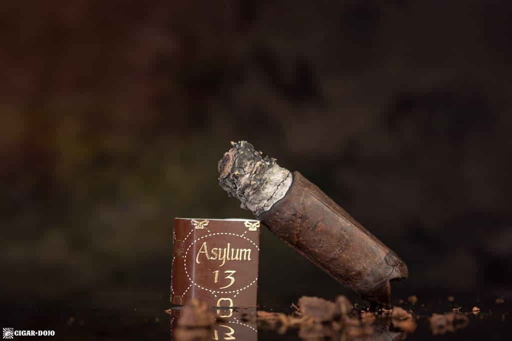 Asylum 13 Medulla Oblongata Maduro robusto cigar finished