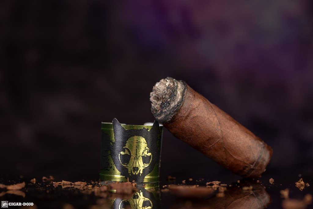 Emilio Cigars Grimalkin Toro (2018) cigar nubbed