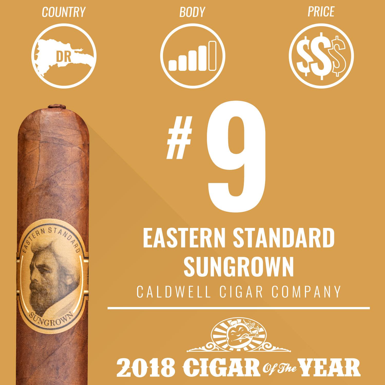 Caldwell Eastern Standard Sungrown No. 9 Cigar of the Year 2018