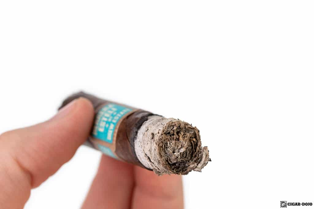 Herrera Esteli Brazilian Maduro Lonsdale Deluxe cigar ash