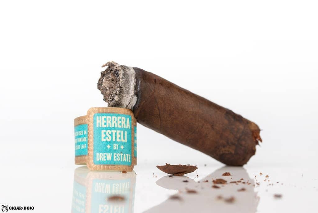 Herrera Esteli Brazilian Maduro Lonsdale Deluxe cigar nub finished