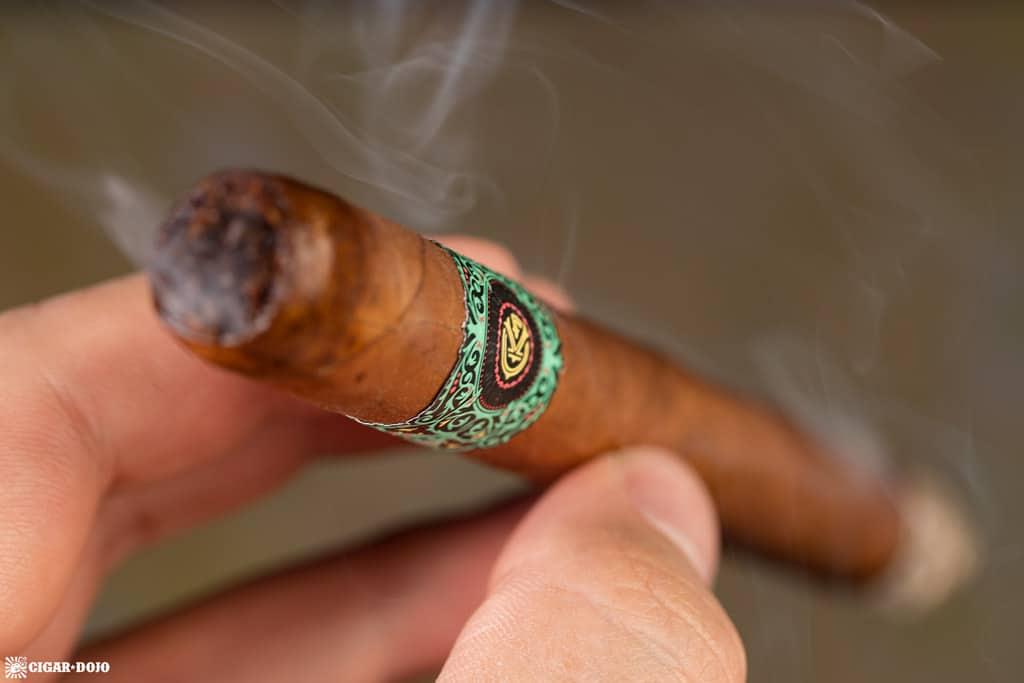 Warped Moon Garden cigar smoking