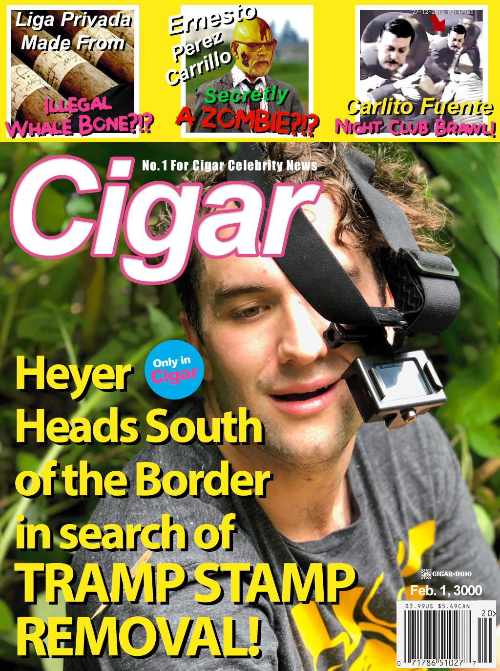 TMZ Cigar Gossip Magazine Cover