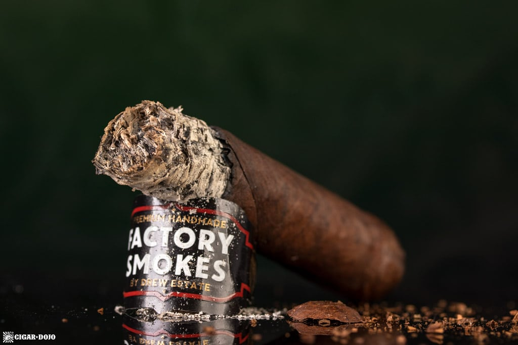 Factory Smokes Maduro by Drew Estate Toro cigar nub finished