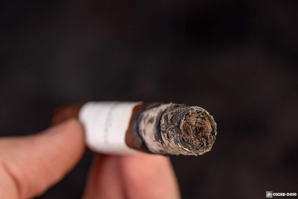 Partagas Legend Corona Extra Leyenda cigar ash