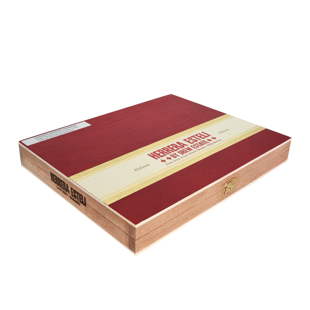 Drew Estate Herrera Esteli Habano Edicion Limitada Lancero cigar box closed