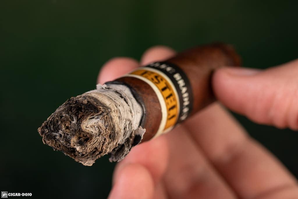 Alec Bradley Black Market Esteli Torpedo cigar ash