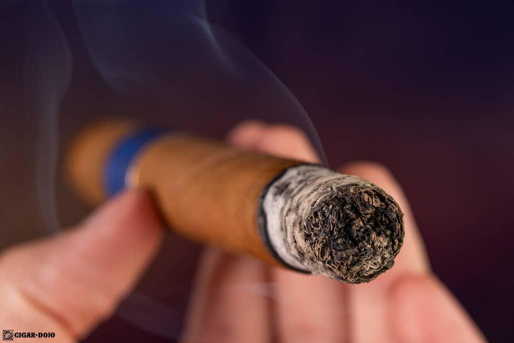 Gran Habano Blue in Green Gran Robusto cigar smoking