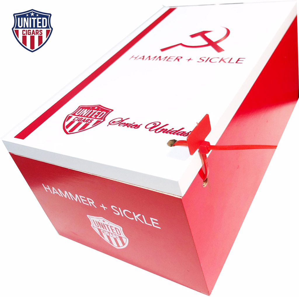 United Cigars Hammer + Sickle Series Unidas cigar box closed